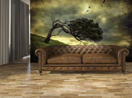 Scary Vintage Tree wall mural wallpaper Premium